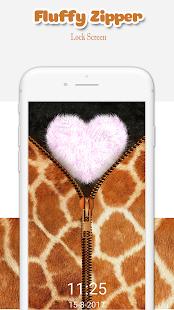 Fluffy Zipper: Theme Fluffy Lock Screen - náhled