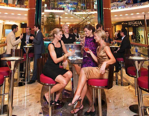 The fashion scene at the Rising Tide aboard Royal Caribbean's Oasis of the Seas.