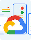 Stylized image of a CPU unit with the Google Cloud logo in foreground