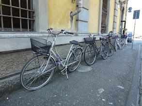 Photo: That's one way to park your bike in town