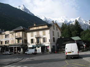 Photo: The plaza near the tourist info centre in Chamonix