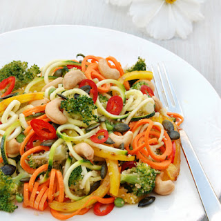 Broccoli Salad with Spiralized Vegetables Recipe