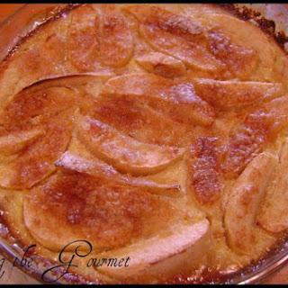 Apple Custard Pie With Oatmeal Crust