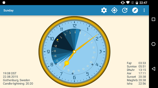 Sunday - Astronomical Clock Widget screenshot 10
