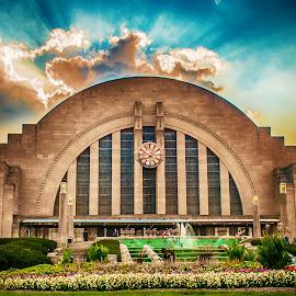 Union Terminal by Richard Michael Lingo - Buildings & Architecture Public & Historical ( ohio, union terminal, sunset, buildings, cincinnati, historical,  )