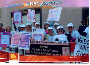 Photo: 12 of us went to the Today Show in NYC on May 5, 2011 to bring awareness to May as Brain Tumor Awareness Month