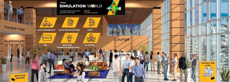 Пользовательский интерфейс онлайн-конференции Ansys Simulation World