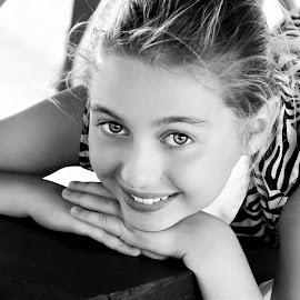Precocious B&W by Cheryl Korotky - Black & White Portraits & People