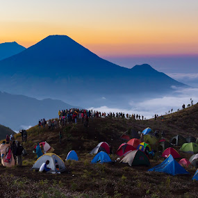Dieng Plateau by Frederiko Ferry - Landscapes Mountains & Hills ( clouds, highland, hill, landmark, mountain, nature, forest, travel, landscapes )