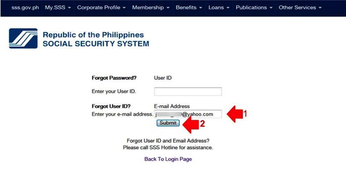 how to retrieve sss online account step 2