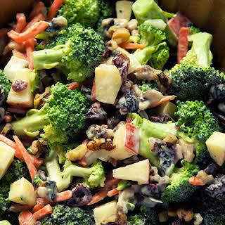 Broccoli and Apple Salad with Walnuts.