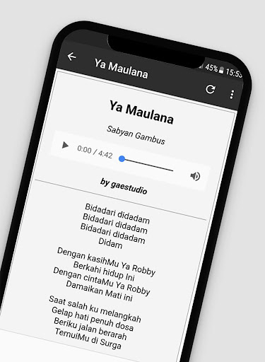 Lagu Sholawat Versi Sabyan Offline + Lirik 1.2 screenshots 5