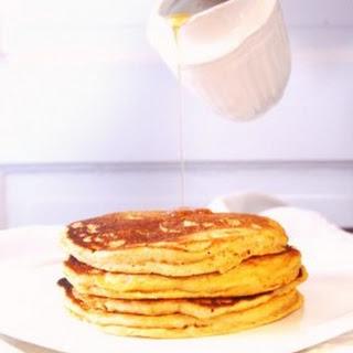 Vegan Orange Sweet Potato Wholegrain Pancakes.