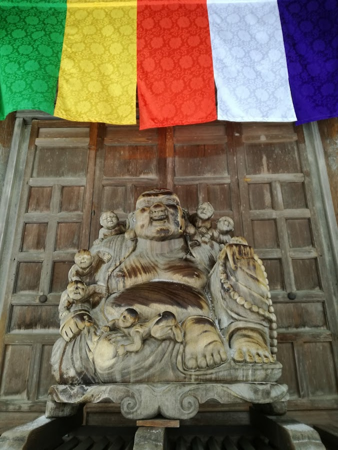 Wooden Buddha in Hoju-san Risshaku-ji, Yamadera.
