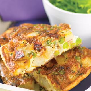 Potato Tortilla with Peas and Bacon