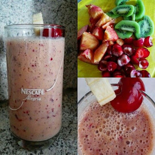 Cherry-Kiwi-Peach Smoothie Recipe