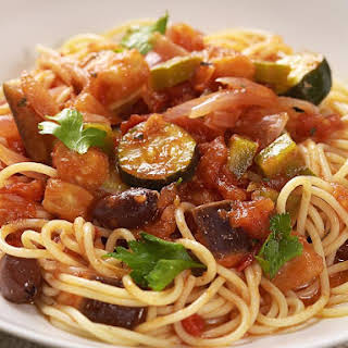 Ratatouille Spaghetti.