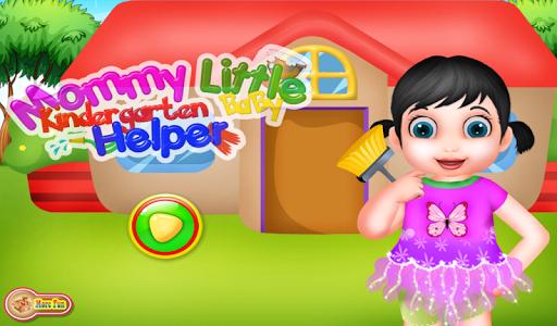 幼儿园辅助游戏的女孩