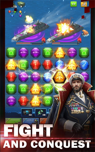 Battleship & Puzzles: Warship Empire Match modavailable screenshots 8
