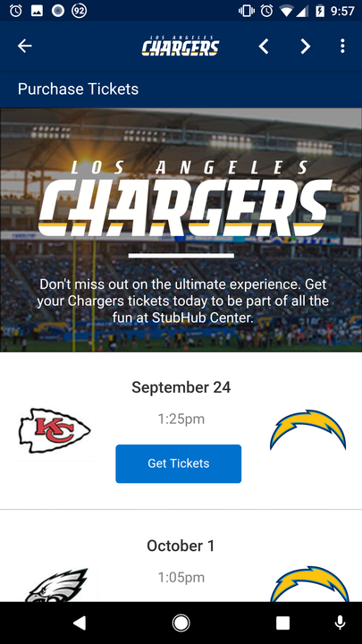 Los Angeles Chargers- screenshot