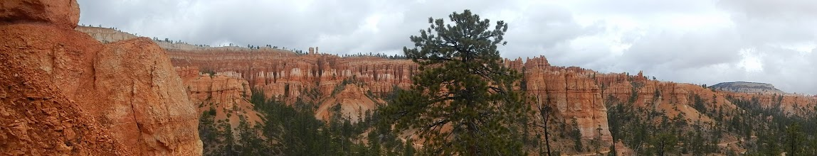 Photo: Panoramic view from inside Bryce Canyon.