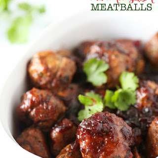 Chili Cranberry Fusion Meatballs