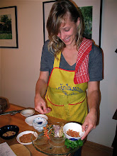 "Photo: Kate plating ""miang kam"" filling ingredients"