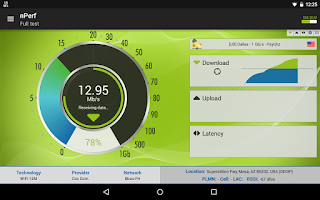 Screenshot of Speed Test & QoS 3G 4G WiFi