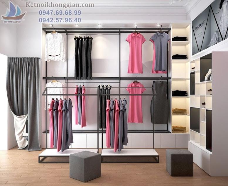 thiết kế cửa hàng váy dạ hội tại mai dịch hà nội