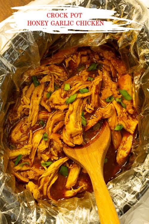 """Crock Pot Honey Garlic Chicken Recipe""""Crock Pot Honey Garlic Chicken Recipe, sweet,..."""