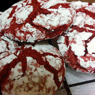 Cottage Cooking - Red Velvet Cake Mix Cookies.
