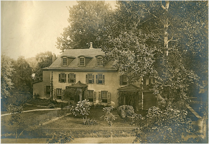 Historical image of the Box Grove Mansion.