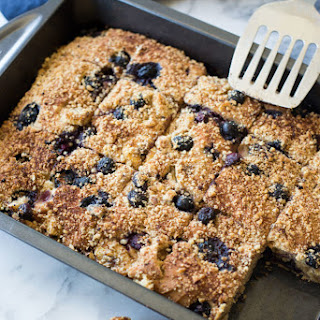 BLUEBERRY BANANA BREAD SQUARES