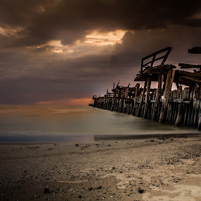 Baltic Sea by Vaidotas Maneikis - Landscapes Waterscapes ( water, old pier, baltic sea, sea, lithuania )