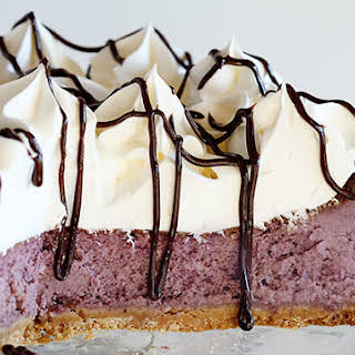 Blueberry Cheesecake With Shortbread Crust.