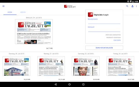 Zofinger Tagblatt - E-Paper screenshot 4