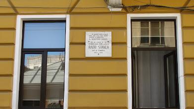 """Photo: nr.31 - Casa Memoriala """"Sebastian Stanca"""" INSCRIPTIE """"In aceasta casa a locuit intre anii 1922-1940 familia preotului si publicistului Dr. Sebastian Stanca. Aici, au crescut fii sai OCTAVIAN medic HORIA publicist, RADU STANCA poet si dramturg 1920 - 1962"""" Radu Stanca... - (n. 1920, Sebeș — d. 1962, Cluj) a fost un dramaturg, poet, eseist și regizor de teatru român. http://ro.wikipedia.org/wiki/Radu_Stanca (2012.08.28)"""