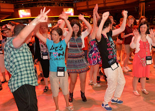 Photo: NASHVILLE, TN - JUNE 25:  Campers learn Line Dancing while attending the ACM Lifting Lives Music Camp - Wildhorse Saloon with Lauren Alaina party at the Wildhorse Saloon on June 25, 2013 in Nashville, Tennessee.  (Photo by Rick Diamond/Getty Images for ACM)