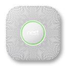 Nest protect with pulsing green ring