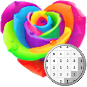 Flowers Coloring Book, Coloring By Number-PixelArt