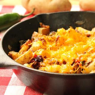 Cheesy Jalapeno and Bacon Skillet Potatoes