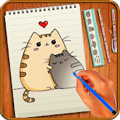 23.  Learn to Draw Pusheen Cat Characters