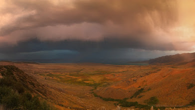 Photo: Evening light on a storm over the Mono Basin in California's Eastern Sierra region