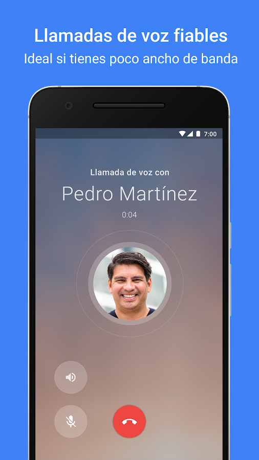 Google Duo: captura de pantalla