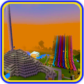 Super Waterslides Map for MCPE redstone!