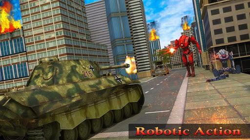 Flying Air Robot Transform Tank Robot Battle War Apk 2