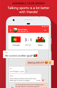 SportOn - Live Scores + Chat- screenshot thumbnail