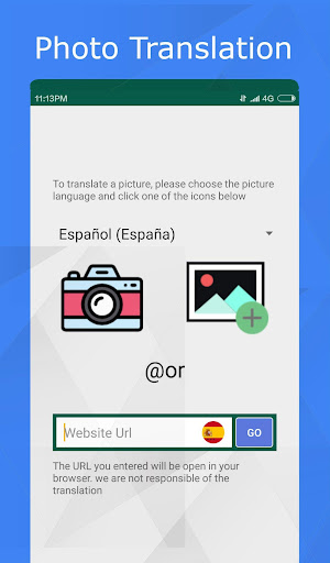 translator for text, web pages & photos. 100% free screenshot 3
