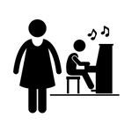 Music teacher icon