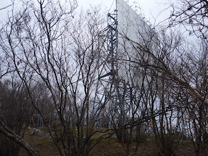 山頂に電波反射板